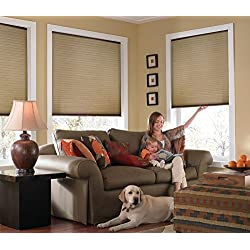 """Custom Cordless Single Cell Shades, 24W x 42H, Antique Linen, Any size from 21"""" to 72"""" wide and 24"""" to 72"""" high Available"""