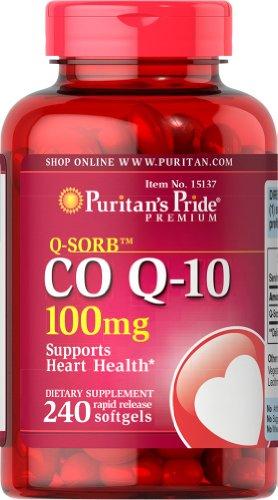Пуританской Гордость Q-Sorb Co Q-10 100 мг-240 Softgels