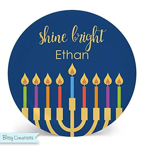 Shine Bright – Hanukkah Plate ()