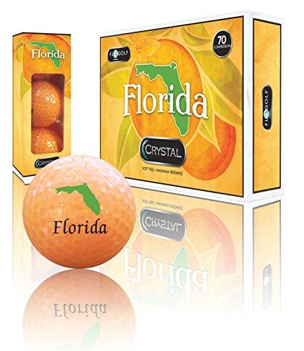 - Crystal Golf Balls (Florida Orange Logo)