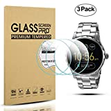 Diruite 3-Pack for Fossil Q Marshal Gen 2 Smart Watch Tempered Glass Screen Protector [Anti-Scratch] [Perfectly Fit] [Optimized version] - Permanent Warranty Replacement