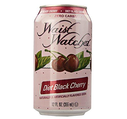(Waist Watcher Black Cherry Diet Soda, 12 Fl. Oz. Cans (Pack of 24) )
