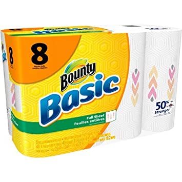 Bounty básicos toallas de papel, impresiones, 40 hojas, 8 rollos: Amazon.es: Hogar