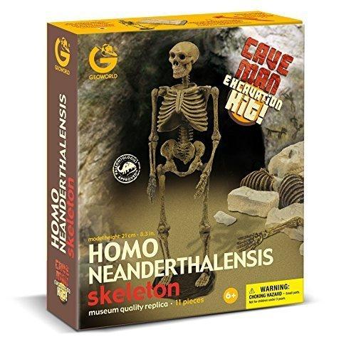 Geoworld Cave Man Homo Neanderthalensis Skeleton Fossil Excavation Kit