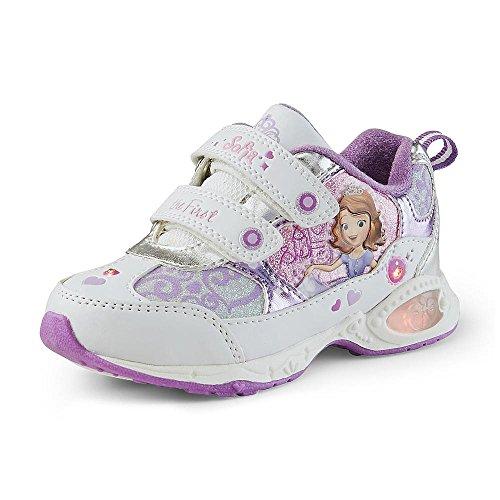 Disney Toddler Girl's Sneaker Sofia the First Sneaker - Lights Up (Toddler 7)