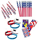 GCC Patriotic American Flag Party Favors Set (4th of July Party Supplies)