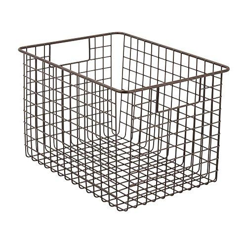 InterDesign Classico Wire Storage Basket with Handles – 12