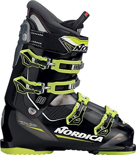 Nordica Cruise 80 Ski Boot 2016 - Black/Lime (4 Cross Country Ski Boots)
