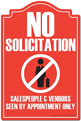 No solicitation salespeople vendors seen by appointment only 3 pack of vinyl decal stickers