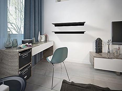 negro cocinas y salones de King 100 cm Estanter/ía flotante de cristal negro para ba/ños