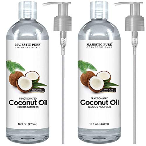 Majestic Pure Fractionated Coconut Oil, For Aromatherapy Relaxing Massage, Carrier Oil for Diluting Essential Oils, Hair & Skin Care Benefits, Moisturizer & Softener - Set of 2. by Majestic Pure (Image #7)