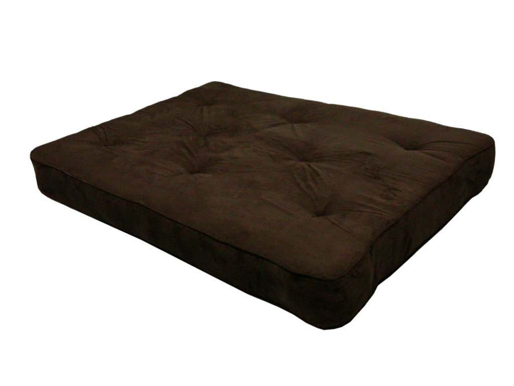 Home Life 6-Inch Independently-Encased Coil Premium Futon Mattress Full Size - brown