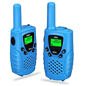 Walkie Talkies for Kids, 2-way Radios Rechargeable 3 Miles (Up to 5Miles) FRS/GMRS Handheld Mini Walky Talky for Kids, Electronic Toys Gifts For Girls/Boys (Blue)