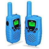 Image of Kids Walkie Talkies, Electronic Toys Gifts For Girls/Boys, Two-way Radios Rechargeable 3 Miles (Up to 5Miles) FRS/GMRS Handheld Mini Walky Talky for Children (Blue)