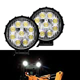 TJTECH 2PCS Black Round Waterproof IP68 27W 10V-24V DC 6500K 2430LM SAN'AN LED Work Light with Flood Beam 4.25 Inches Review