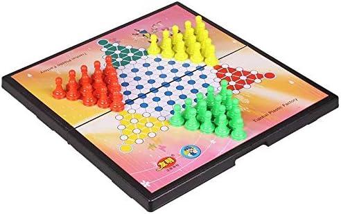 zyhoue Magnet Checkers Portable Plegable Entre Padres e Hijos, niños Adultos, Juegos de Mesa para Varias Personas Tablero de ajedrez Puzzle: Amazon.es: Juguetes y juegos