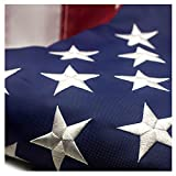 Best American Flag 3x5 Outdoors - American Flag 3x5 ft - Embroidered Stars Sewn Review