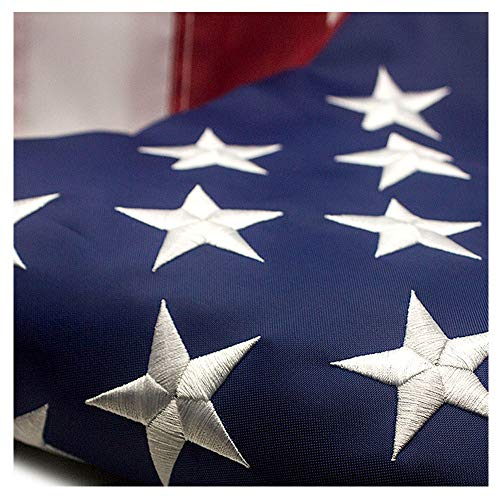 VSVO American Flag 3x5 ft - Durable 300 D Nylon Outdoor Flags- UV Protected, Embroidered Stars, Sewn Stripes, Brass Grommets Outside US Flags.