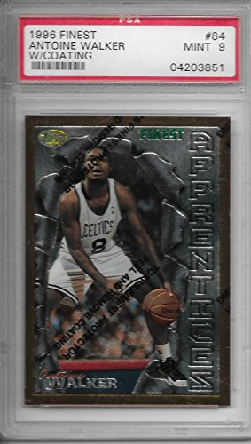 (1996-97 Topps Finest Basketball Antoine Walker Rookie Card # 84 PSA 9 Mint)