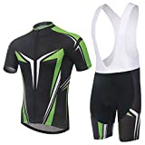 (US) MYNEKO Mens Pro Team Style Short Sleeve Cycling Jersey Suit Jersey and Bib Shorts, Color-5 XL X-Large Color-5