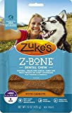 Zuke's Z-Bone Dog Dental Chew with Carrots, Large, 6 Count, 4 Pack