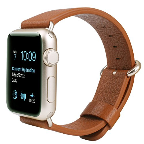 JSGJMY Leather Replacement Watchbands iWatch