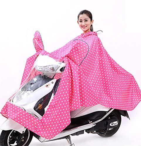 XXXXL moda single adulti elettrico uomini batteria e Coreano auto donne poncho Geyao Color Red moto equitazione impermeabile Dimensione aumentato ispessimento q8xXz5wH