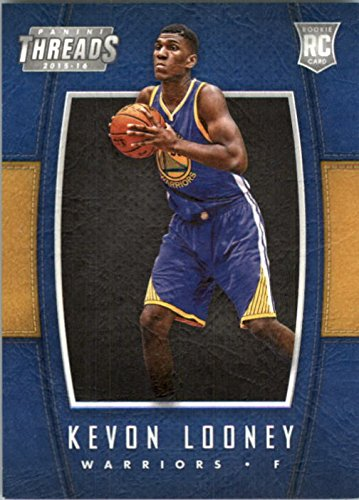 2015-16 Panini Threads Warriors Basketball Card #211 Kevon Looney Rookie