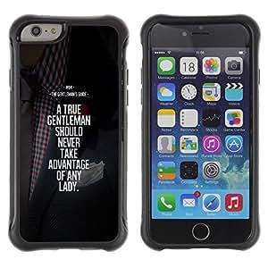 LASTONE PHONE CASE / Suave Silicona Caso Carcasa de Caucho Funda para Apple Iphone 6 / gentleman advantage motivational