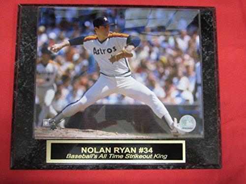 Astros Nolan Ryan Collector Plaque w/8x10 Action Photo