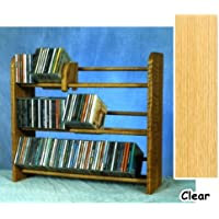 3 Row Dowel CD Rack (Clear)