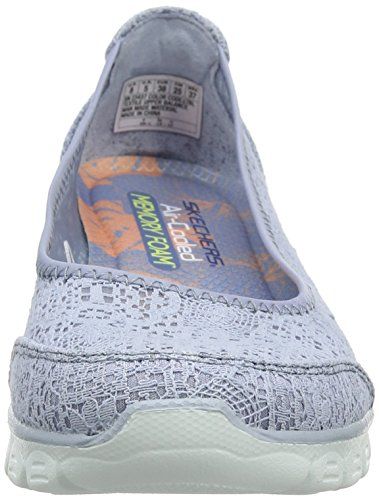 Donna 0 Skechers Flex Punta Ez Beautify Blu Blue Light 3 Ballerine Chiusa w88tqrg