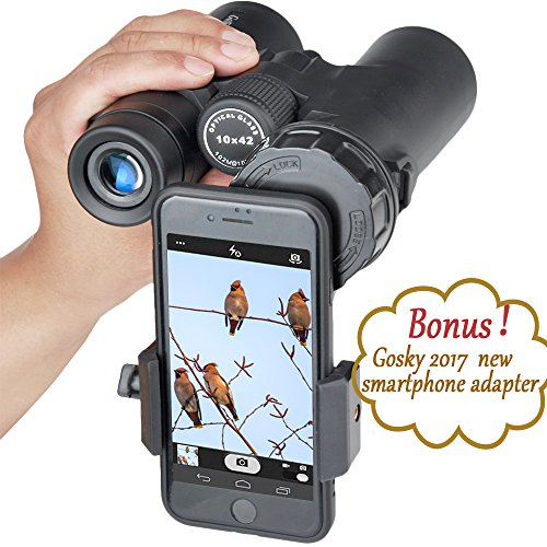 51FLhU8NzKL - Gosky 10x42 Binoculars for Adults, Compact HD Professional Binoculars for Bird Watching Travel Stargazing Hunting Concerts Sports-BAK4 Prism FMC Lens-With Phone Mount Strap Carrying Bag