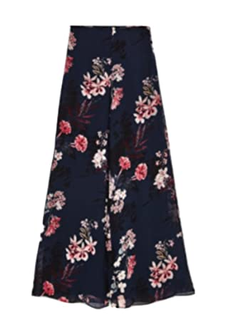 5be1a57cd Zara Long Printed Trousers With Side Vents BNWT M Black at Amazon ...