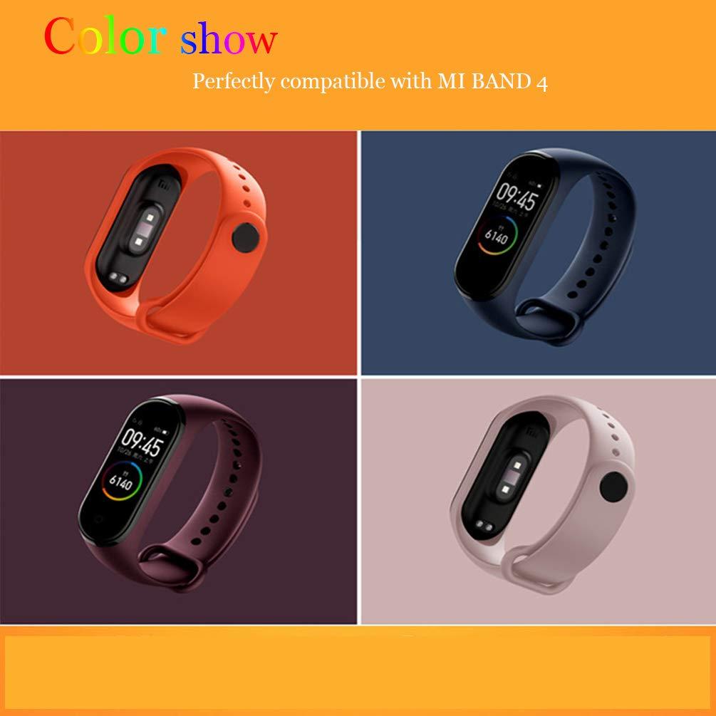 STN Compatibile con Bracciale Xiaomi Mi Band 4, Cinturino Sostitutivo in (12PCS) 4