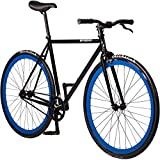Pure Fix Original Fixed Gear Single Speed Bicycle, Bravo Black/Blue, 54cm/Medium