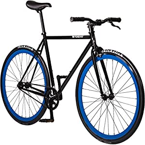 Pure Fix Original Fixed Gear Single Speed Bicycle, Bravo Black/Blue, 47cm/X-Small