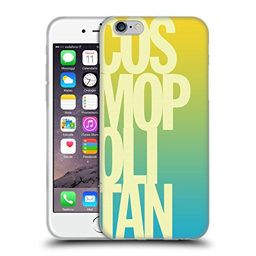 Official Cosmopolitan Ombre Stacked Logo Soft Gel Case for Apple iPhone 6 / 6s