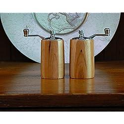 Wooden salt and pepper ceramic mills