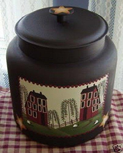 Primitive Saltbox House and Sheep Cookie Jar