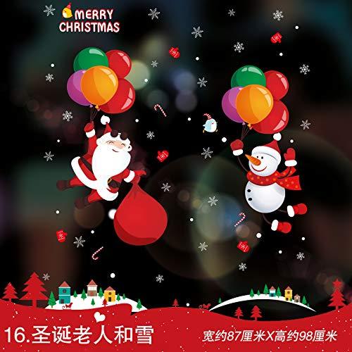 Weihnachtsschmuck, Aufkleber, Schaufenster, Glastüraufkleber, Weihnachtsdach-Kamin B07K9KJ3RD Fantastische Kreaturen Mode-Muster | Offizielle