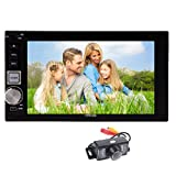 Eincar 6.2'' HD Capacitive Touch Screen Car Stereo in-dash Remote Control Autoradio bluetooth 2 DIN Stereo Car Headunits Player FM/AM USB/SD SWC AUX Multimedia stereo system + Free Backup Cam