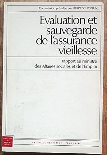 Amazon Fr Evaluation Et Sauvegarde De L Assurance Vieillesse