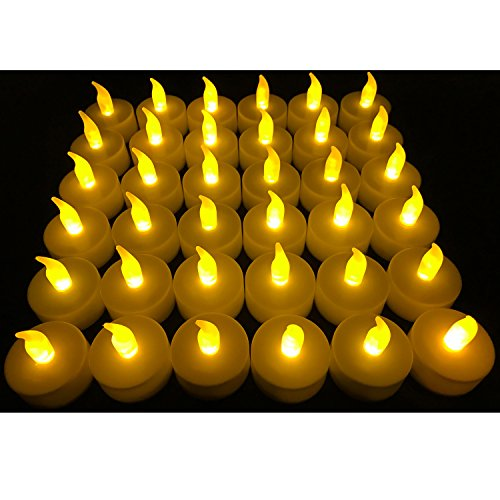 : Flameless LED Tea Light Candles, Vivii Battery-powered Unscented LED Tealight Candles, Fake Candles, Tealights (36 Pack)