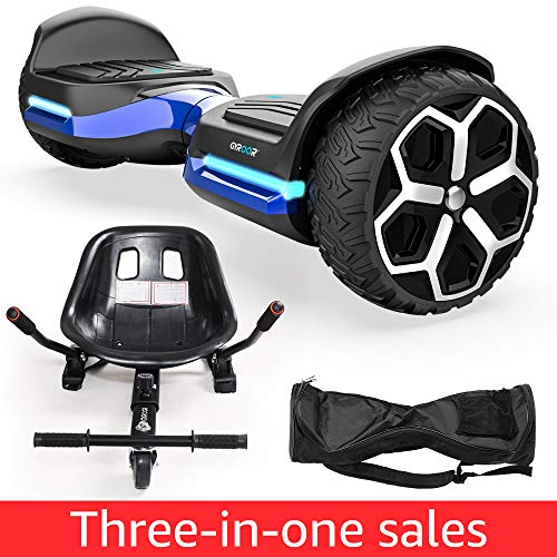 Hoverboard 6.5″ inch All Terrain Off Road T581 Hoverboards,with Bluetooth Speaker and App-Enabled, Smart Self Balancing Hover Board and Two-Wheel with UL2272 Certified for Kids and Adults
