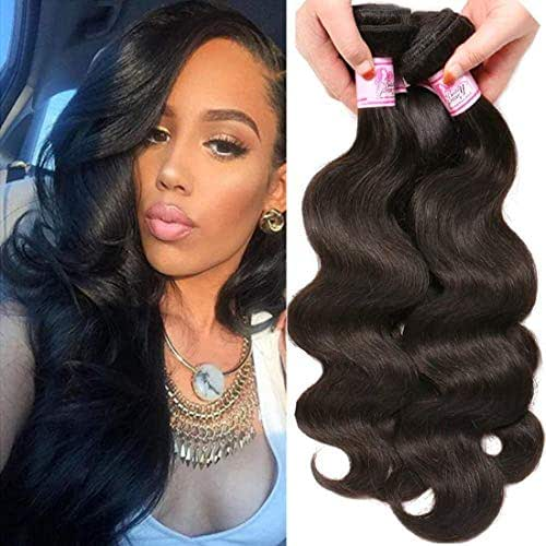 Beauty Forever Indian Body Wave Hair 3 Bundles Hair Extensions 100% Unprocessed Human Virgin Hair Weaves Natural Color 95-100g/pc (16 18 20)
