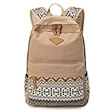 HITOP Vintage Mode Women's Khaki Lightweight Cute Geometry Polka Dot shoulder bag leisure backpack backpacks