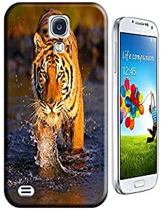 Tiger Case Cover Hard Back Cases Beautiful Nice Cute Animal hot selling cell phone cases for Samsung Galaxy S4 i9500 # 18