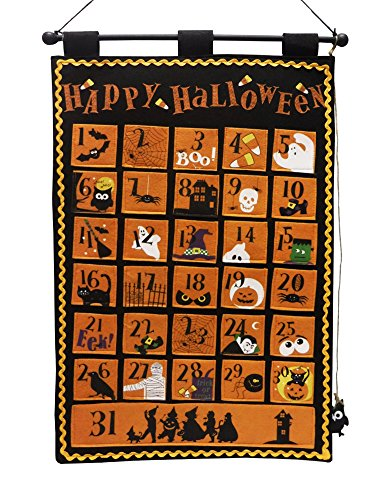 [One Hundred 80 Degrees Halloween Count Down Calendar Wall Hanging] (Trick Or Treat Costumes Images)
