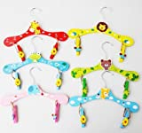Hot Mixed Wood Cute Animal Cartoon Baby Children Coat Clothes Hooks Hangers For Clothes